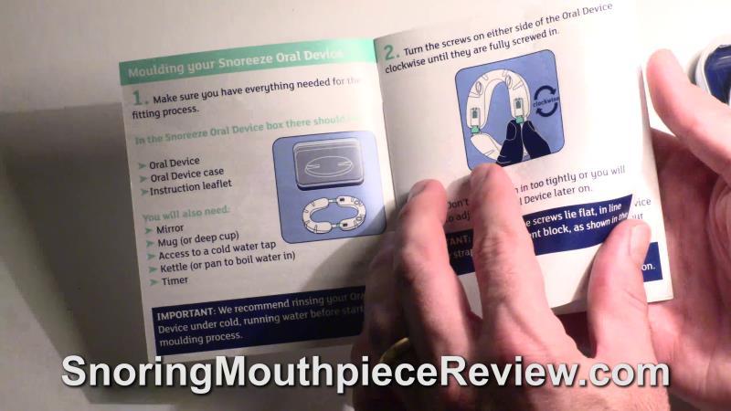 snoreeze booklet